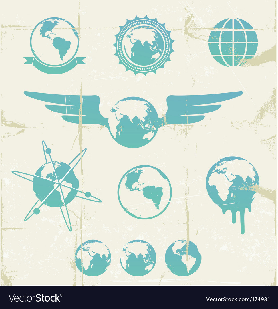 Retro emblems vector image