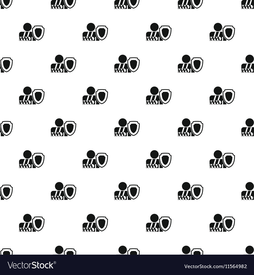 Broken hand and safety shield pattern simple style vector image