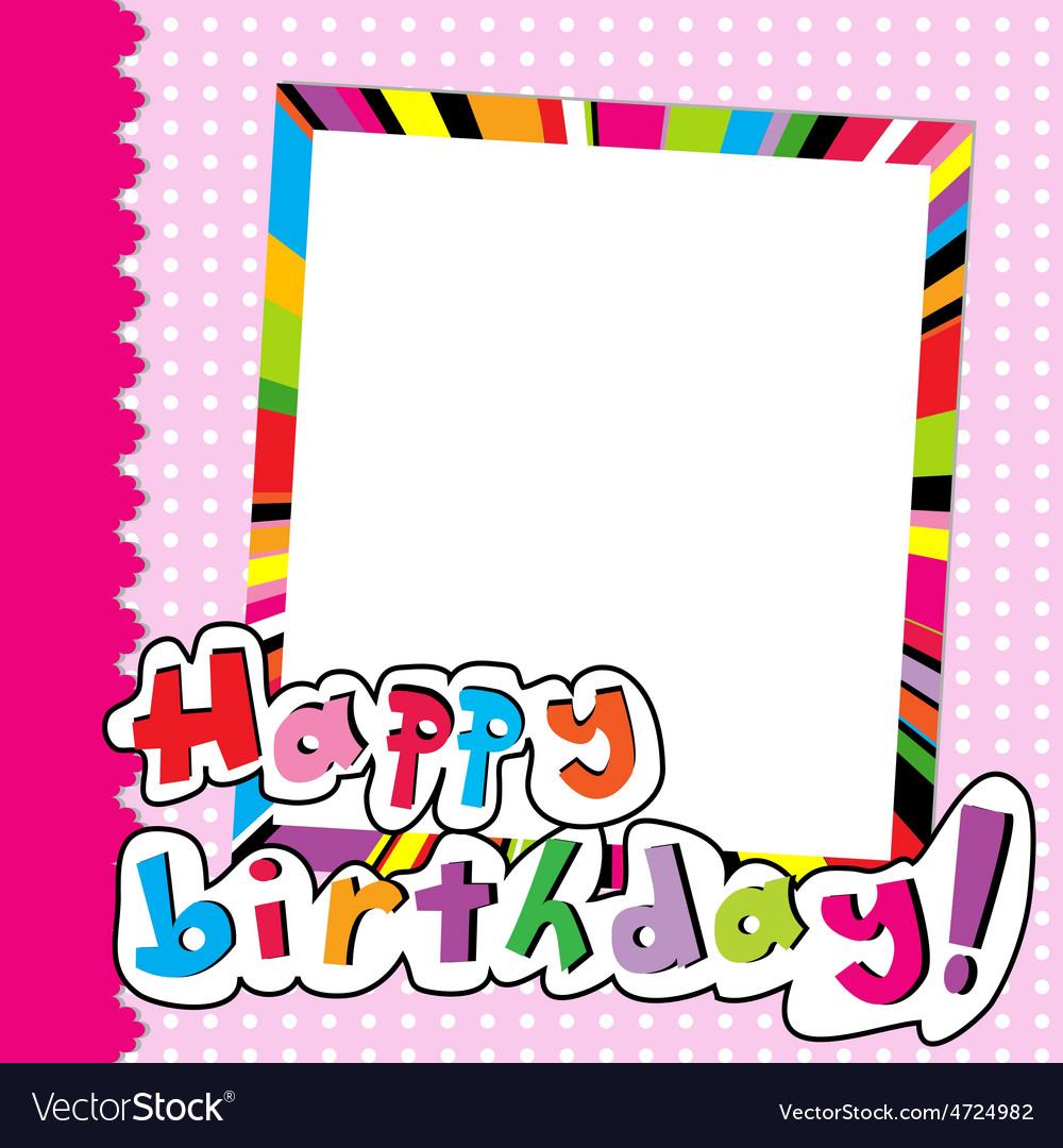 Happy Birthday scrapbook for baby girl vector image