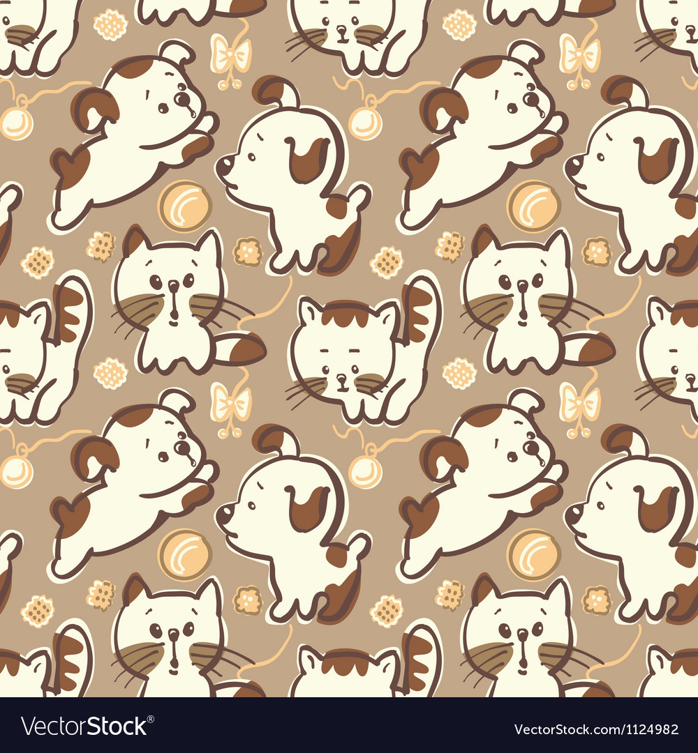 Puppies and kittens vector image