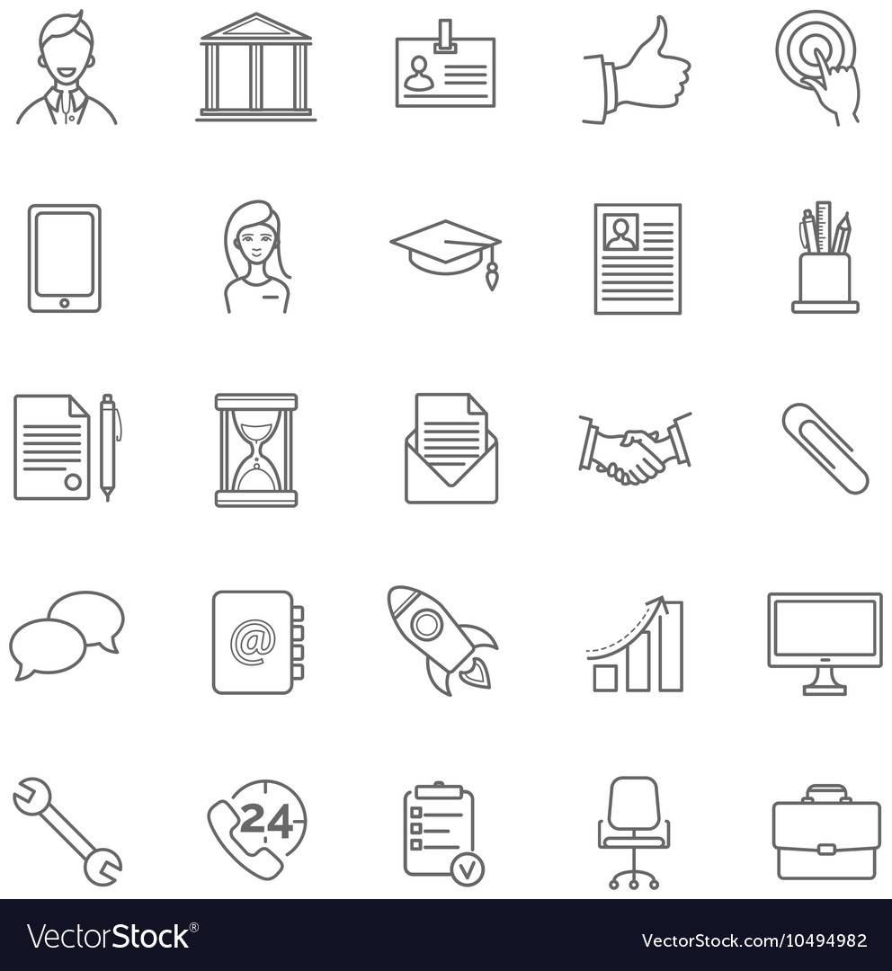 resume icons set vector image - Free Resume Icons