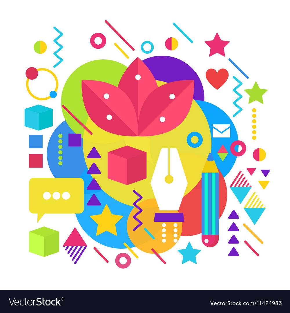 Abstract bright colorful paint artist vector image