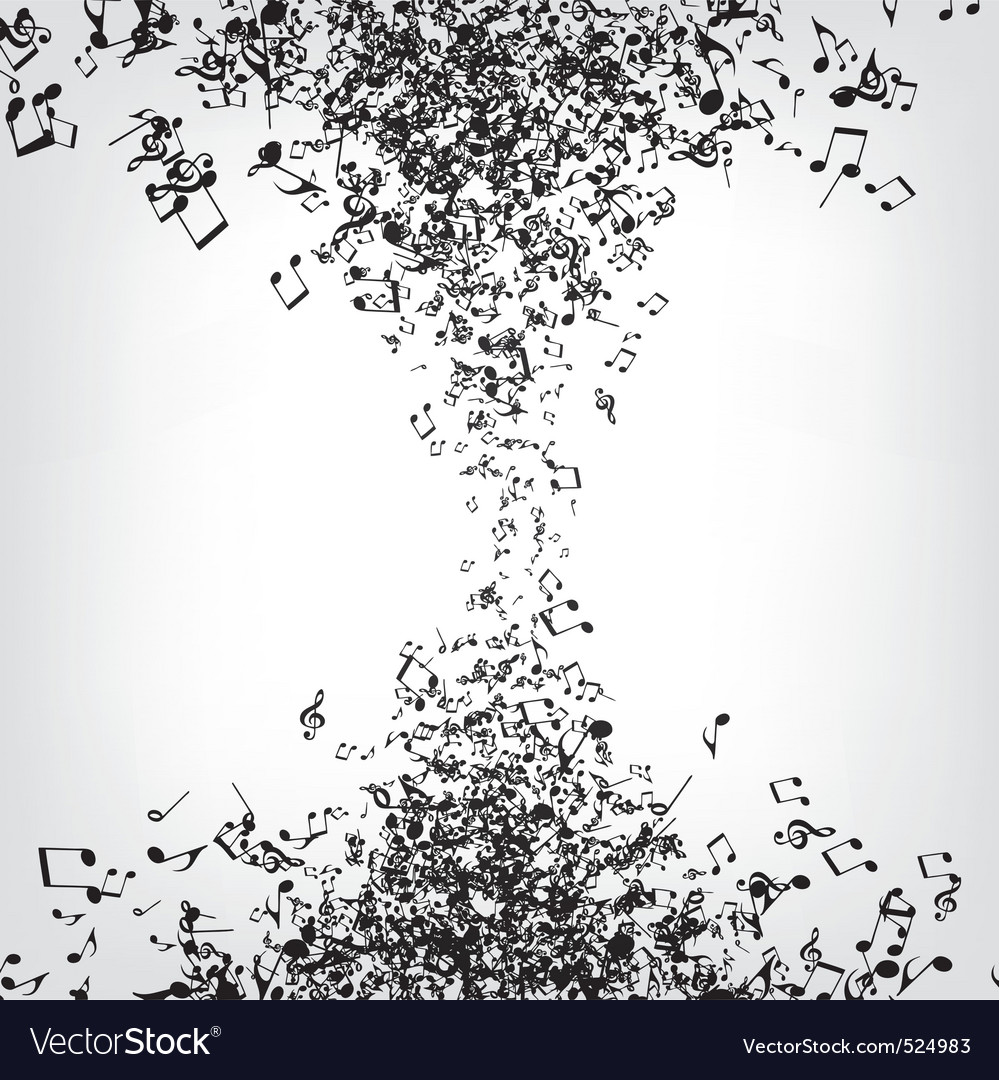 Music notes texture vector image