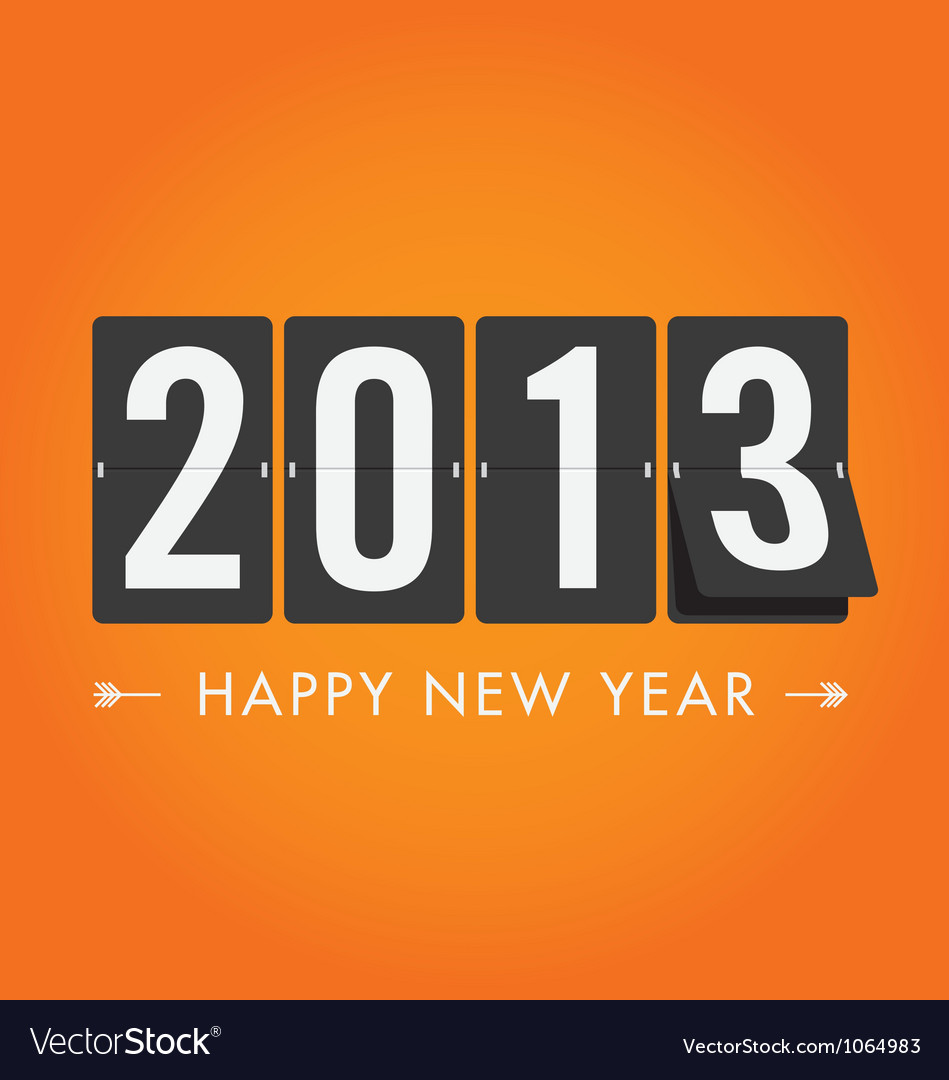 New year 2013 mechanical count style vector image