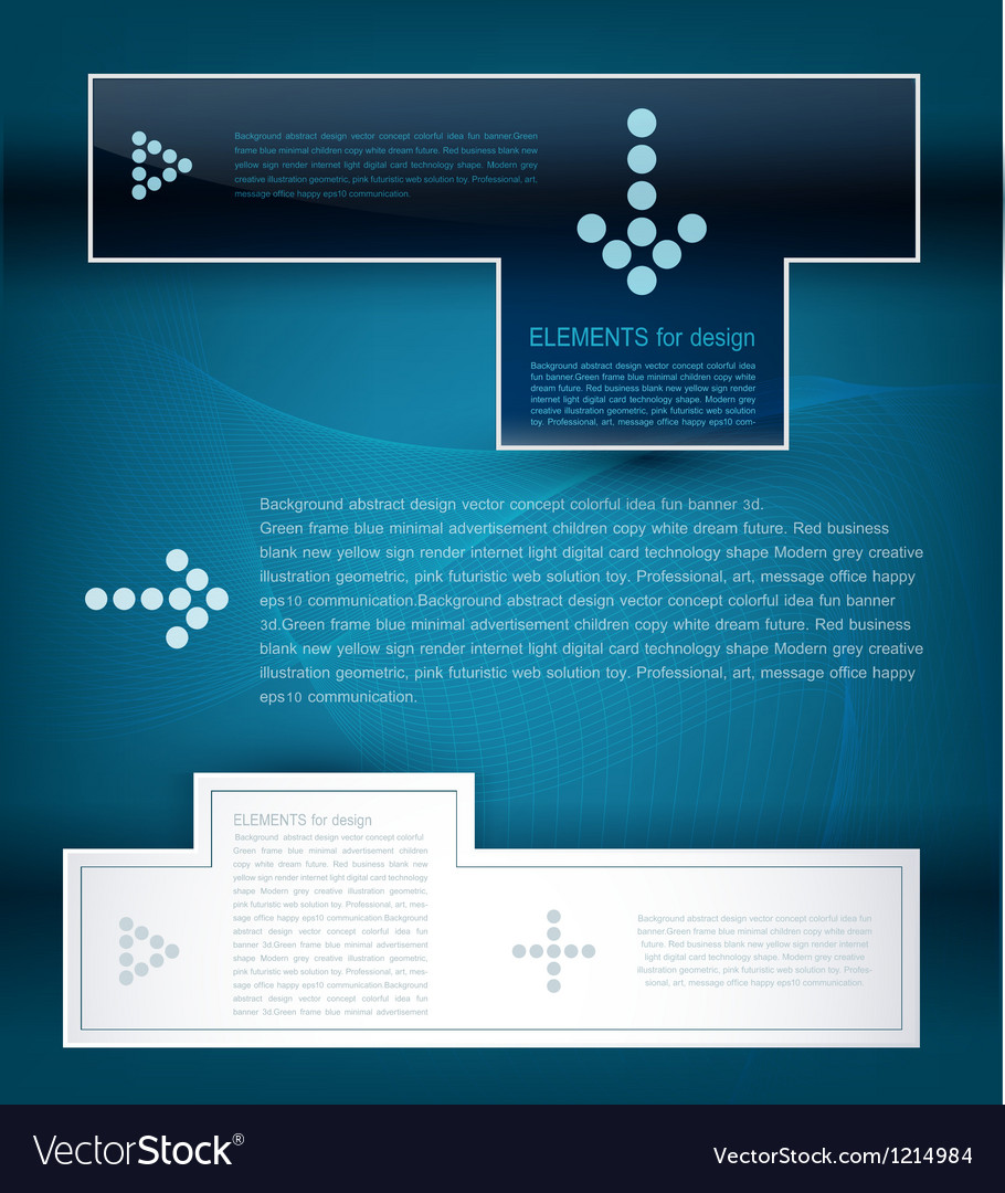 Design elements for business vector image