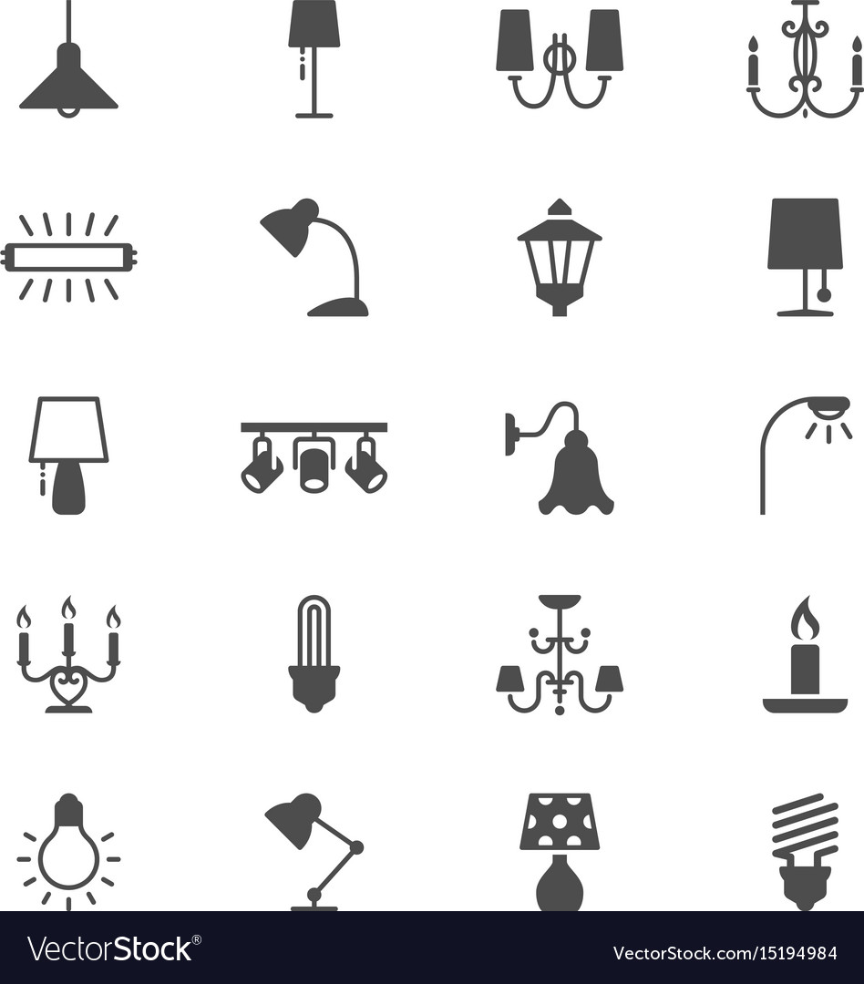 Light flat icons vector image