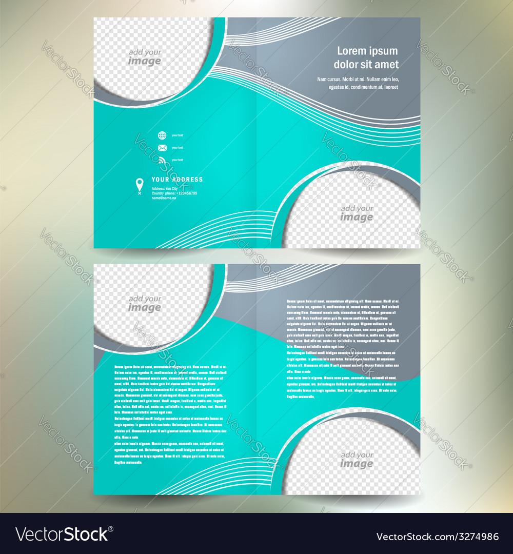 Brochure folder design template abstract vector image