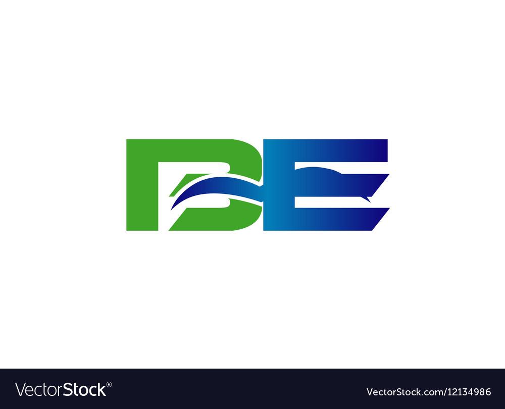 DE company linked letter logo vector image