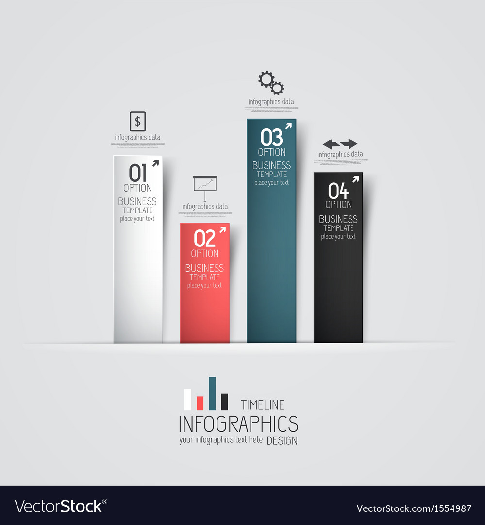 Design infographics 2 vector image