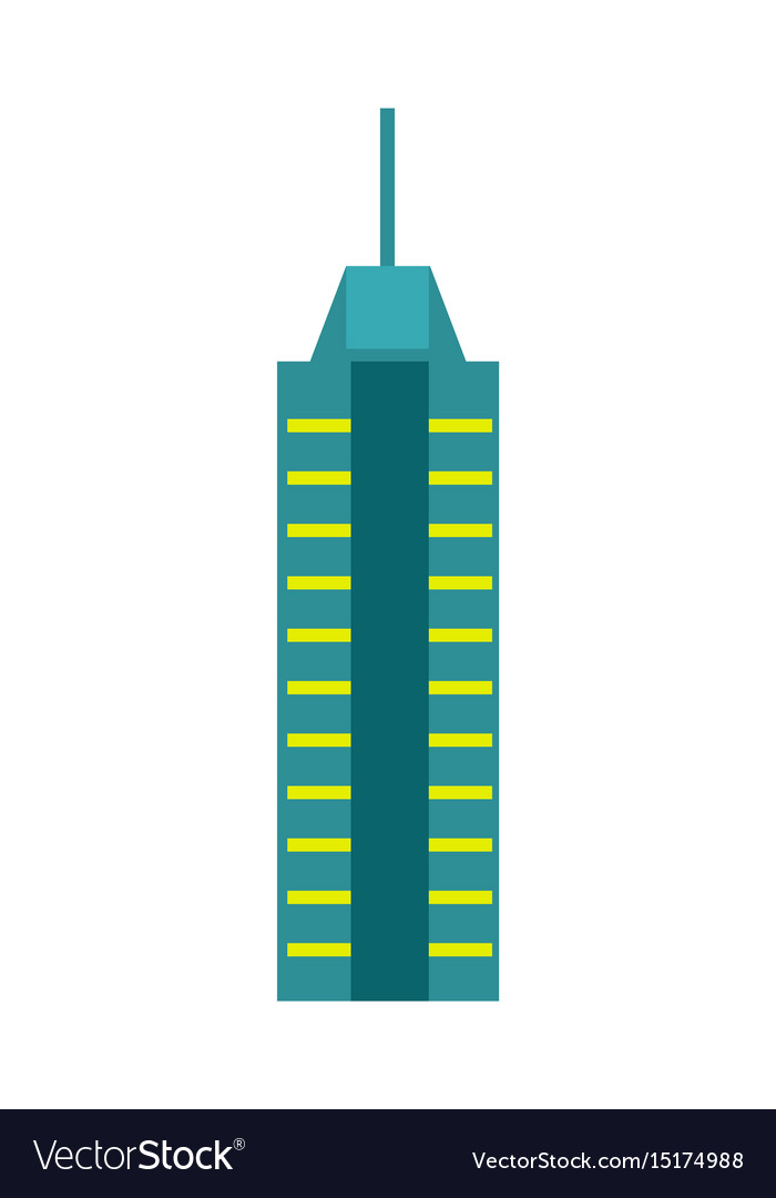 Urban skyscraper isolated icon vector image