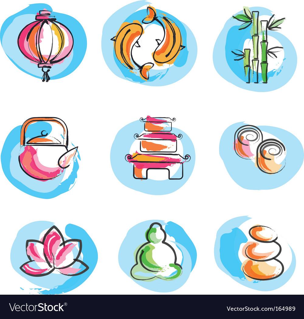 Zen logos vector image