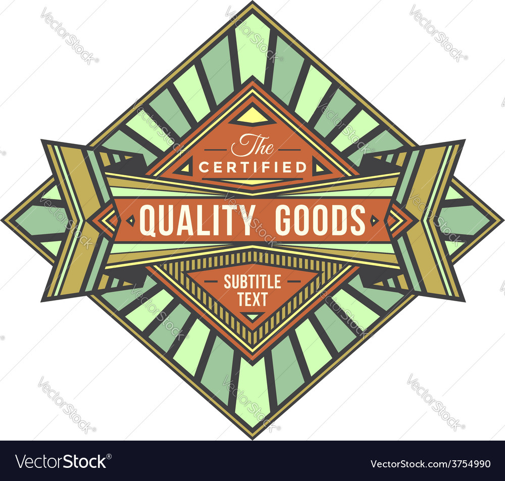 Abstract colored retro badge label vector image