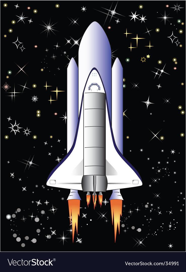 Flight in space vector image