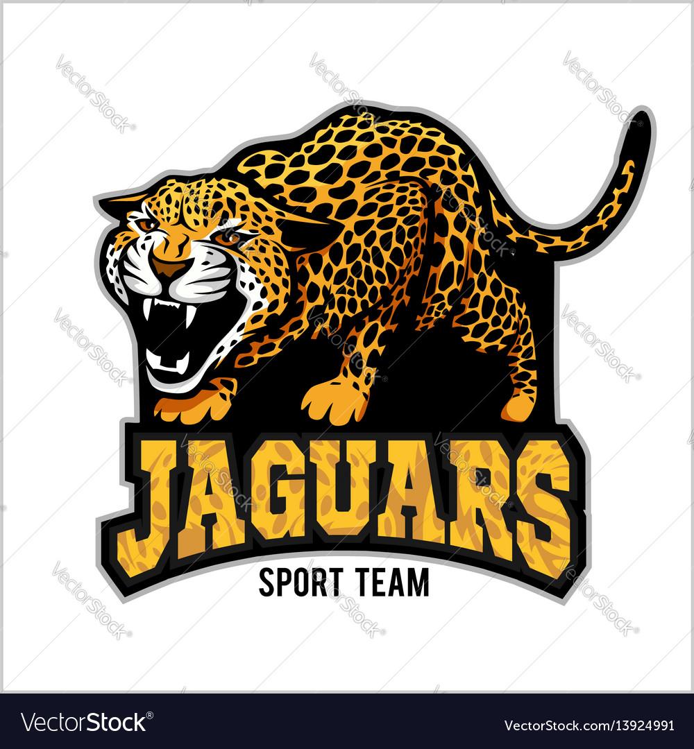 jaguar mascot emblem for sport team royalty free vector