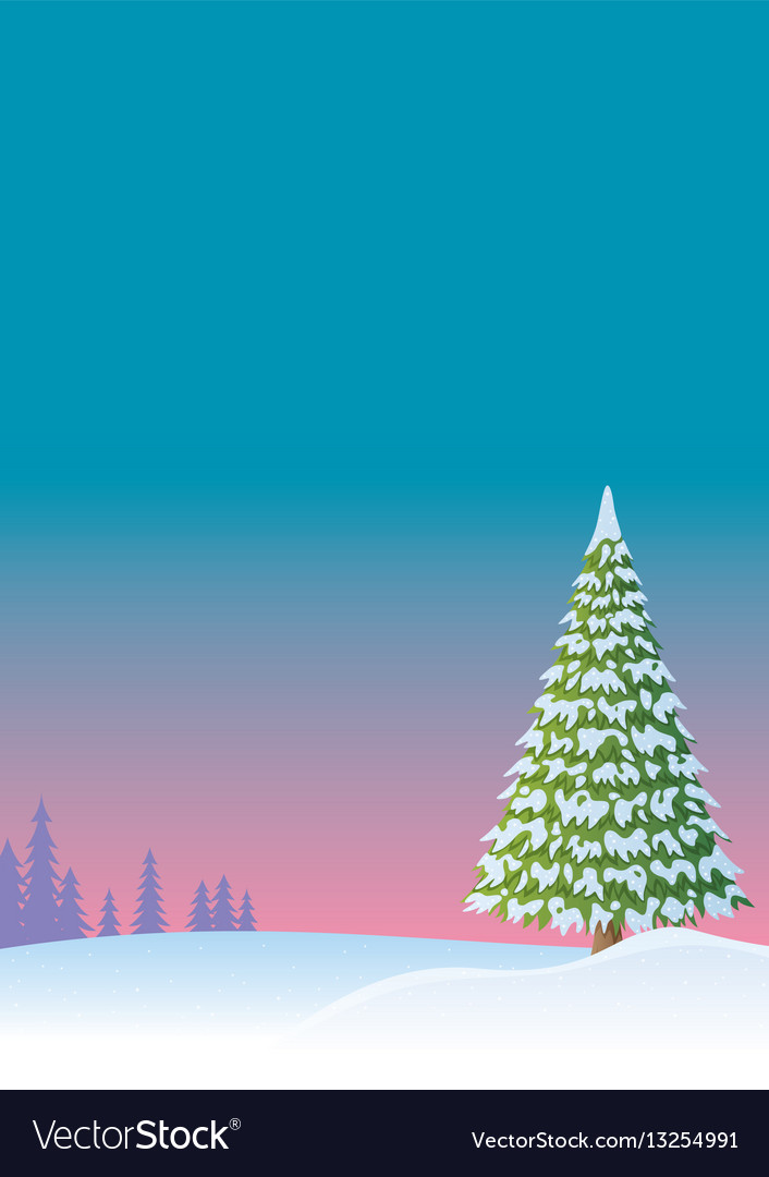 Winter background 2 vector image