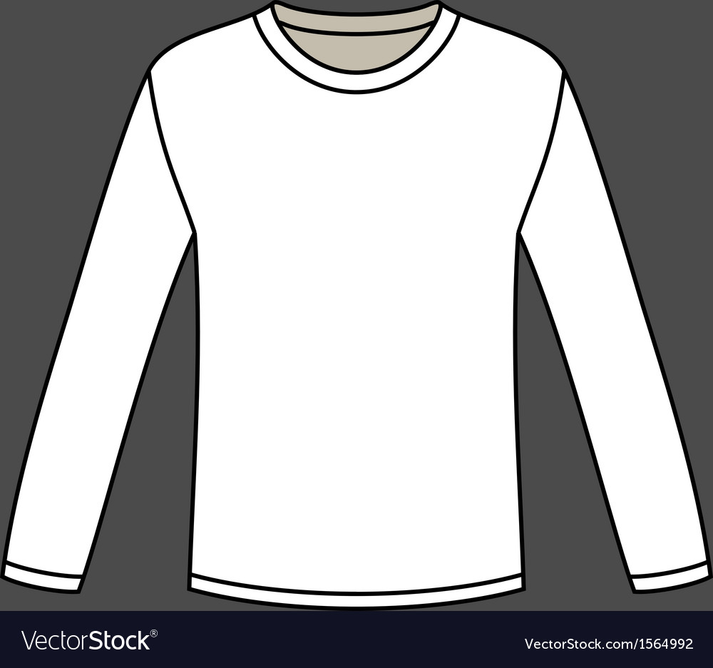 blank long sleeved t shirt template royalty free vector. Black Bedroom Furniture Sets. Home Design Ideas