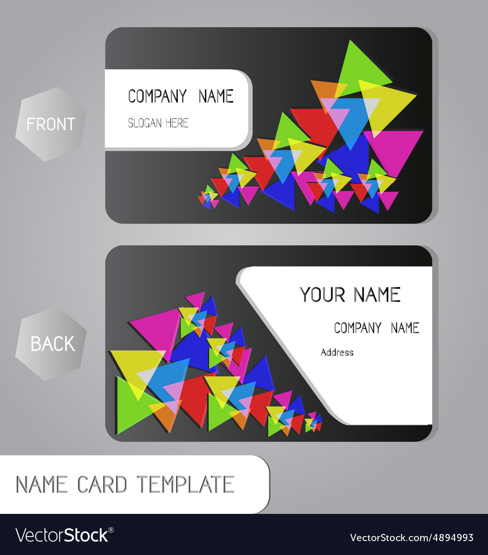 Abstract name card business design Royalty Free Vector Image