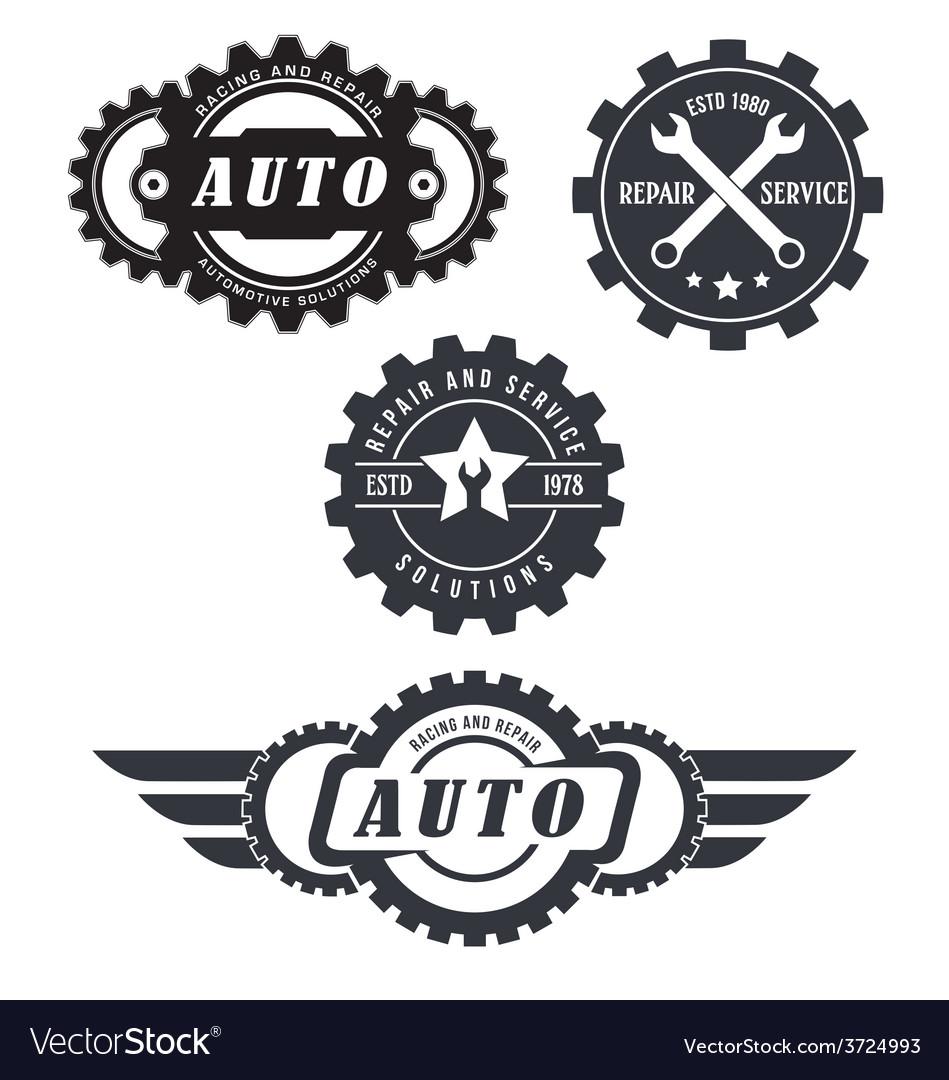 Auto repair logos Royalty Free Vector Image - VectorStock