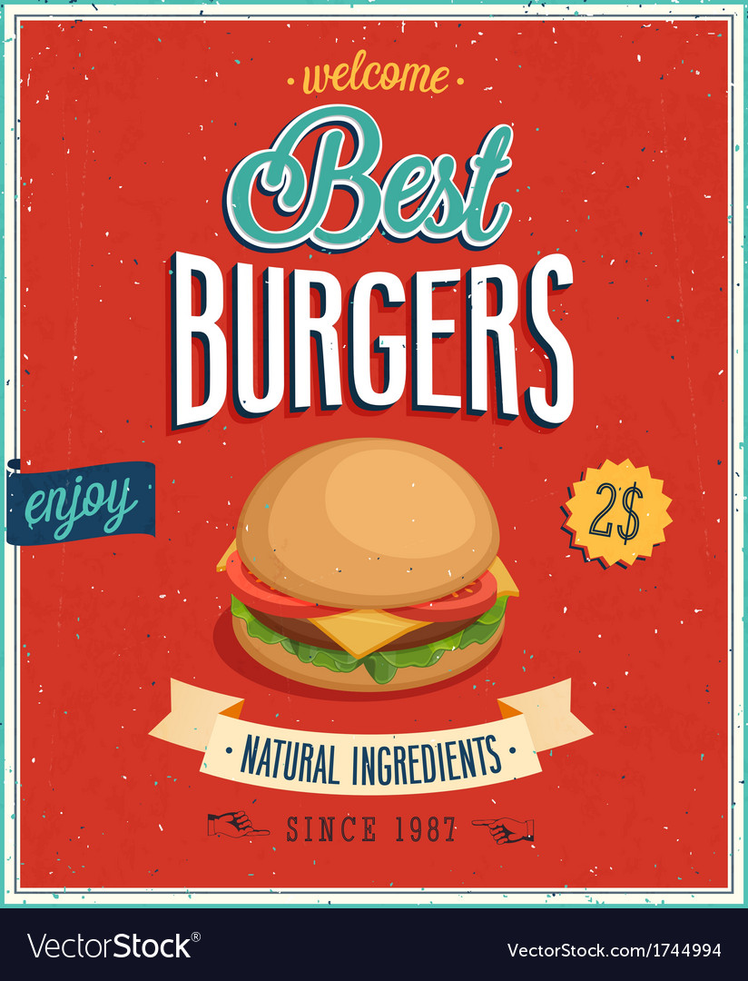 Burger2 vector image