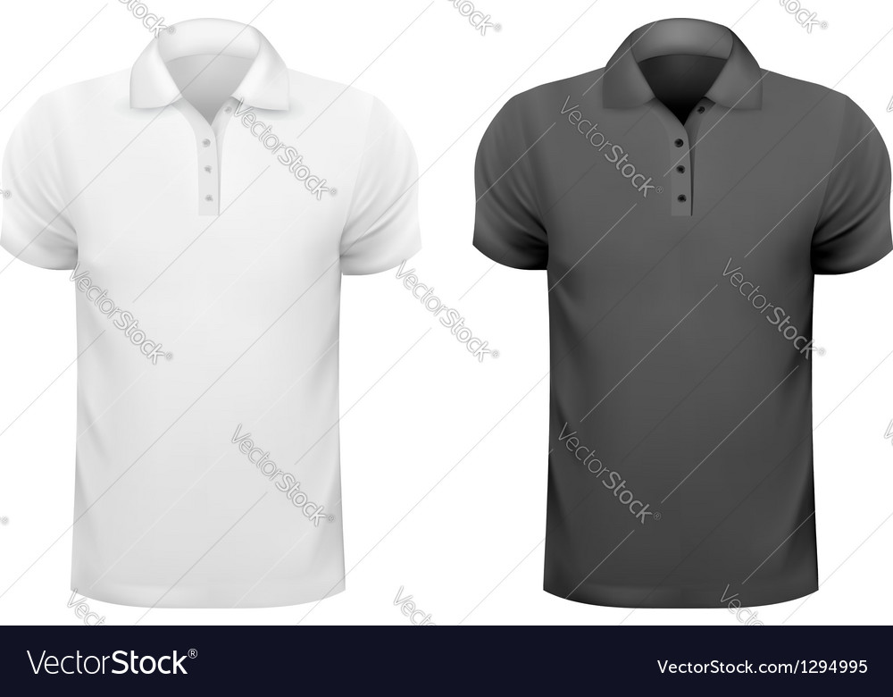 Black and white men t-shirts Design template Vector Image