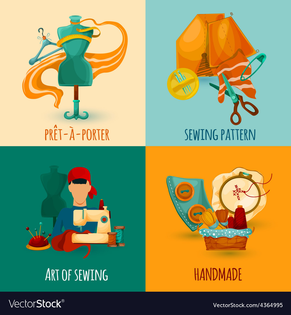 Sewing Design Concept vector image