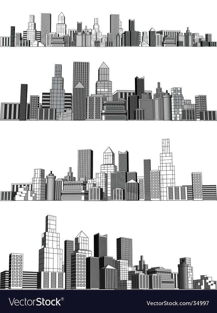 City blocks vector image