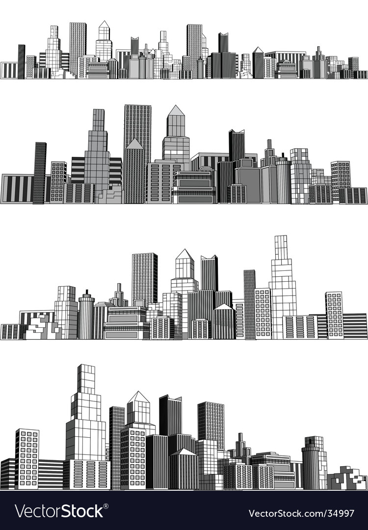 City blocks vector image