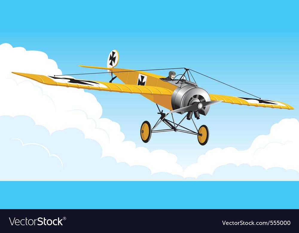 Retro airplane vector image