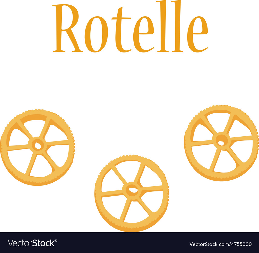 Rotelle pasta vector image