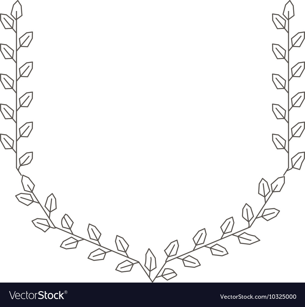 Wreath leafs crown isolated icon vector image