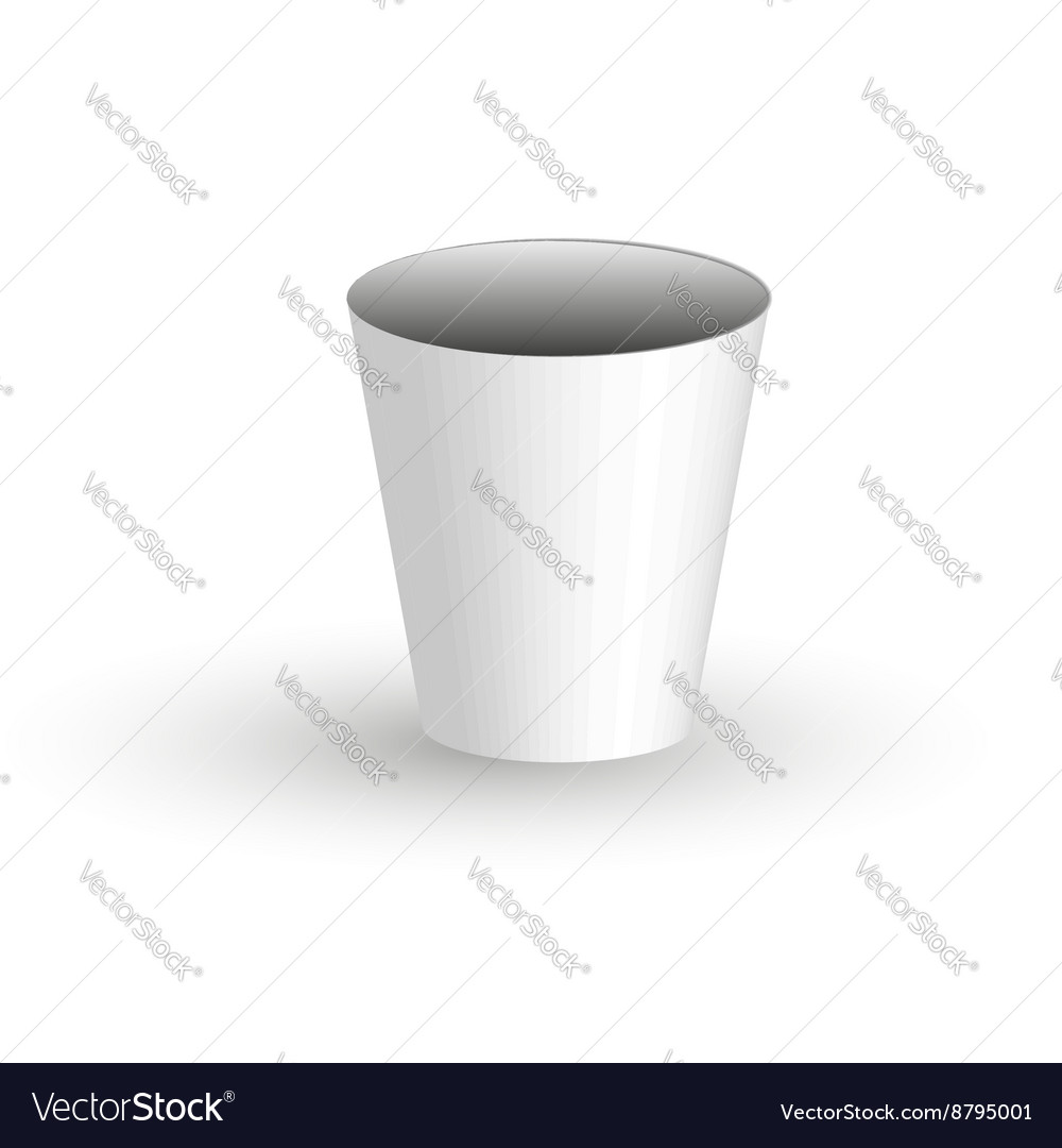 Paper coffee Cup on a transparent background vector image