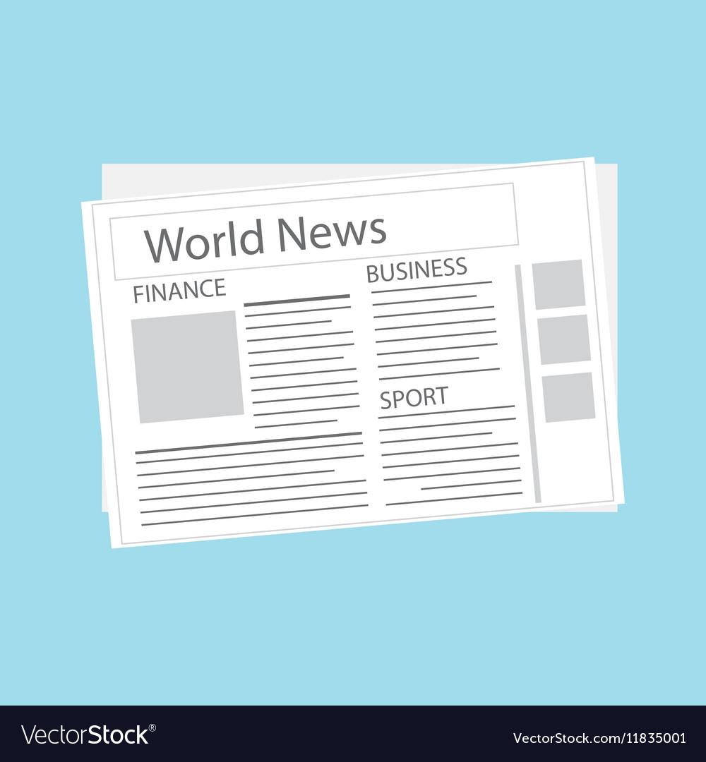 World news newspaper vector image