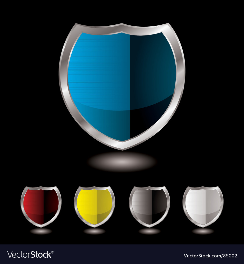 Shield five variation vector image