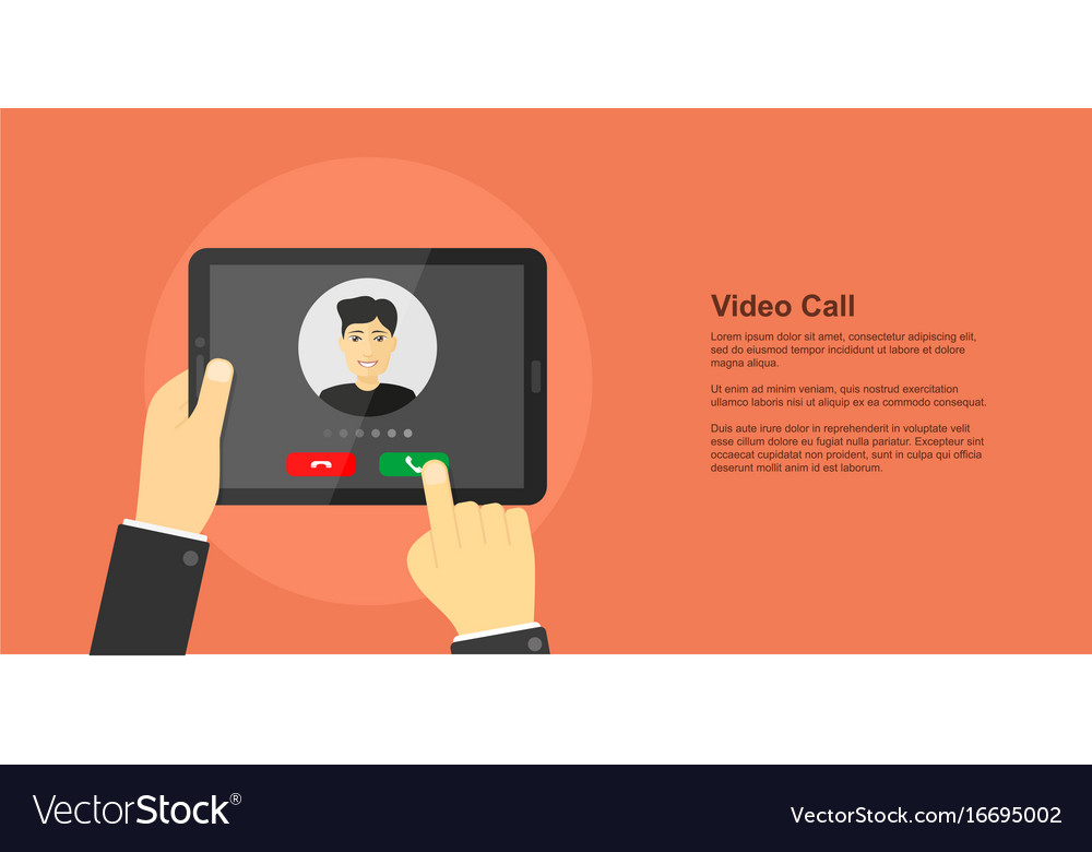 Video call concept banner vector image