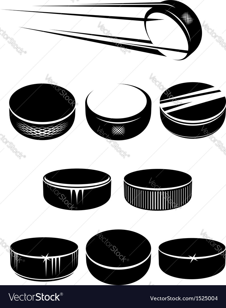 Ice hockey pucks vector image