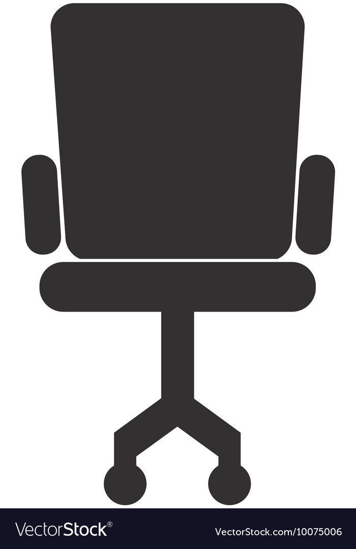 office chair icon. Office Chair Silhouette Icon Vector Image E