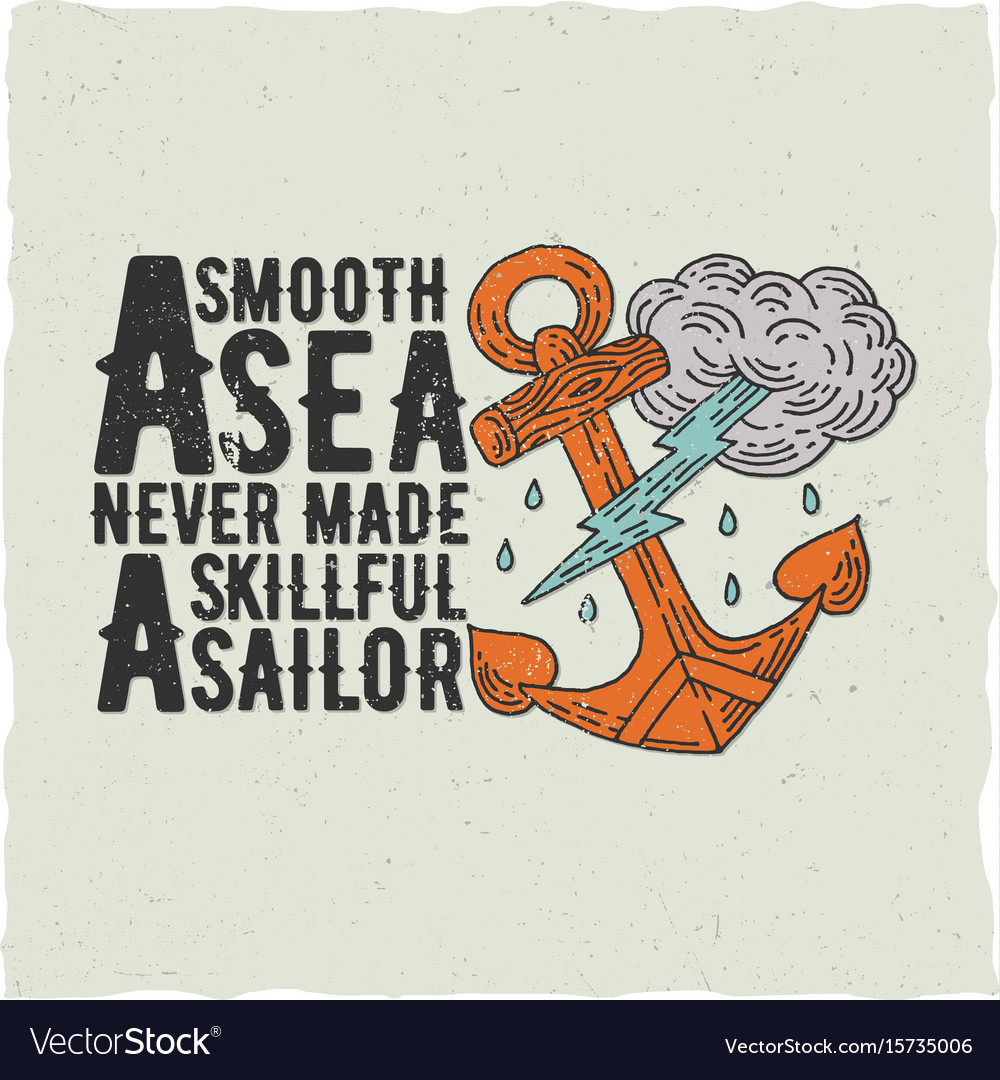 Original nautical poster vector image