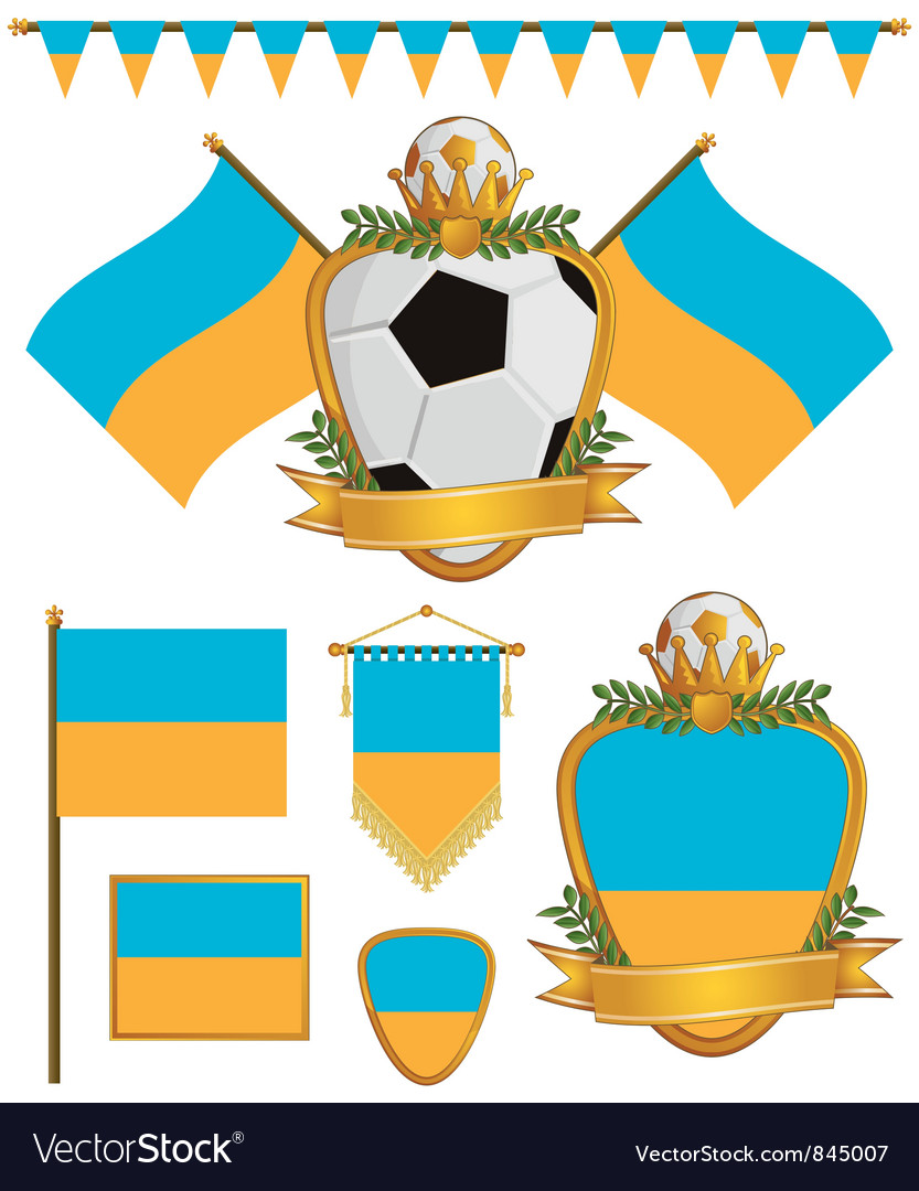 Ukraine flags vector image