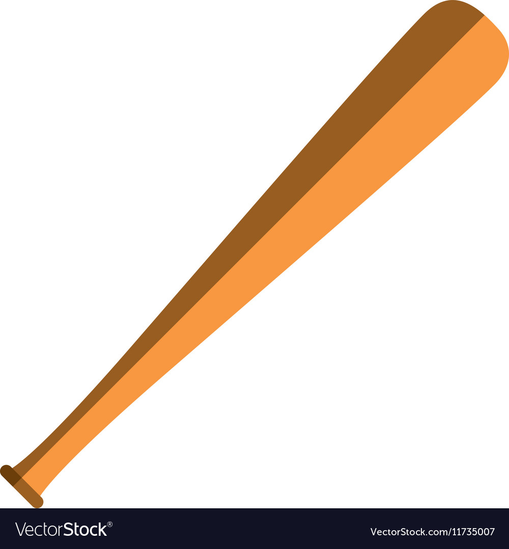 Baseball bat sport vector image