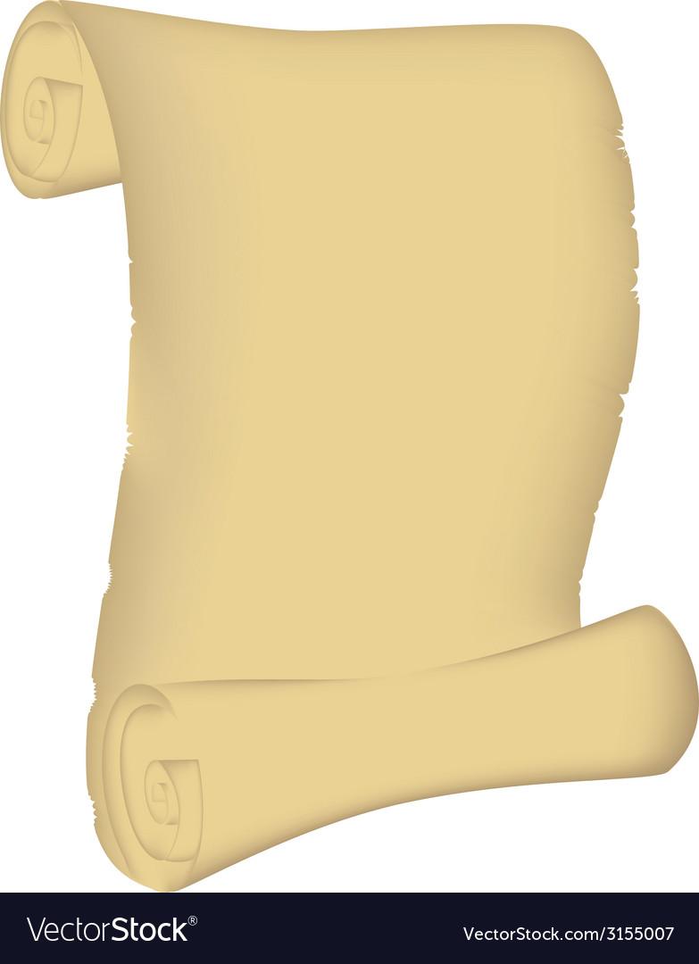 Roll manuscript vector image