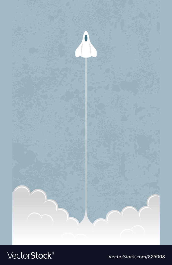 Shuttle liftoff Vector Image
