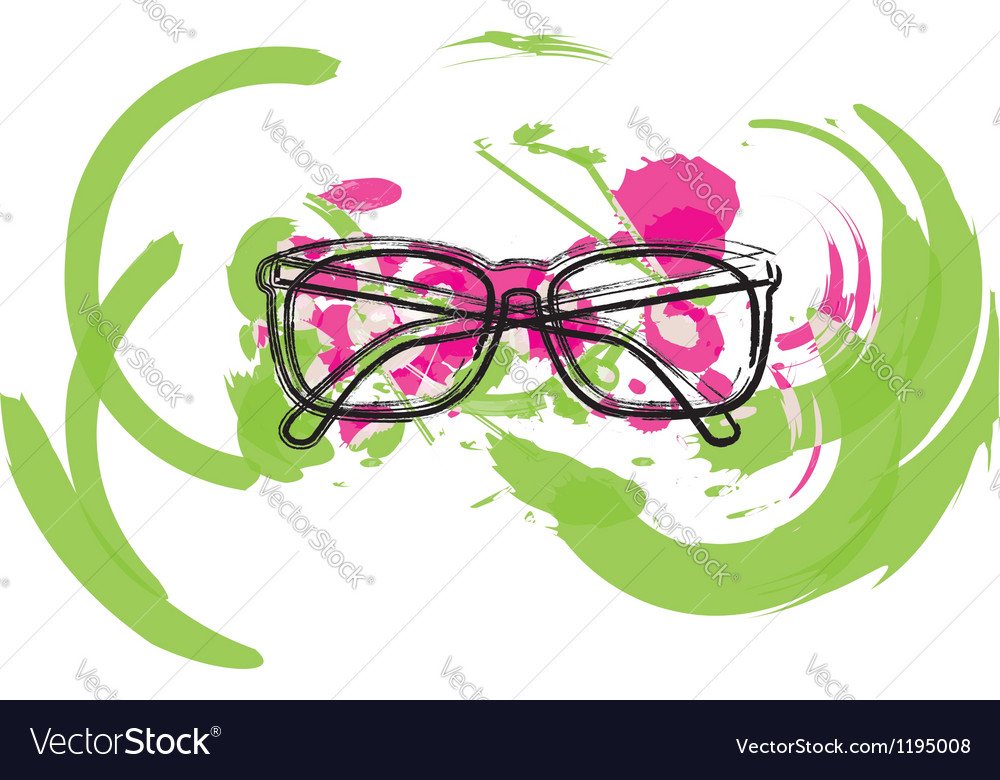 Abstract Eyeglasses vector image