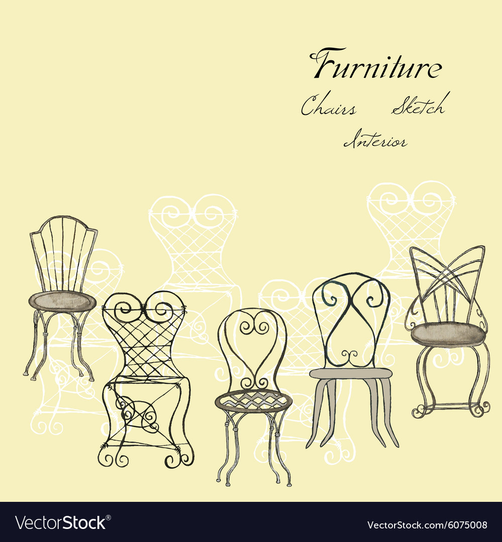 Background with chairs vector image