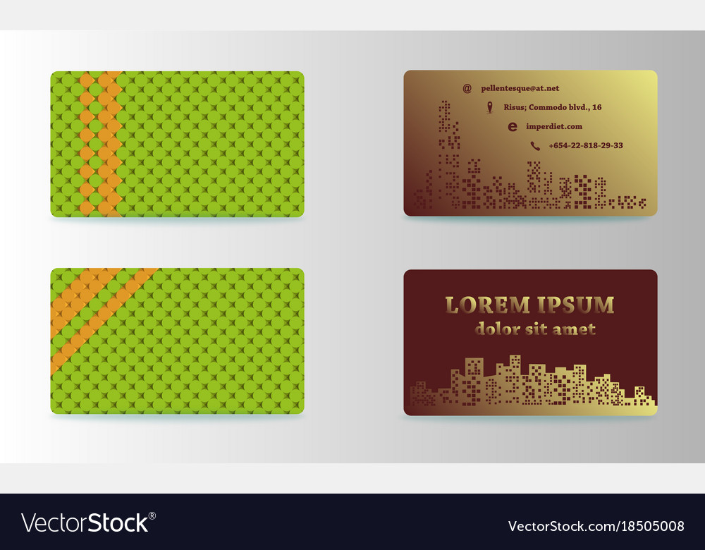 Modern Simple Business Card Template Format Vector Image - Simple business cards templates