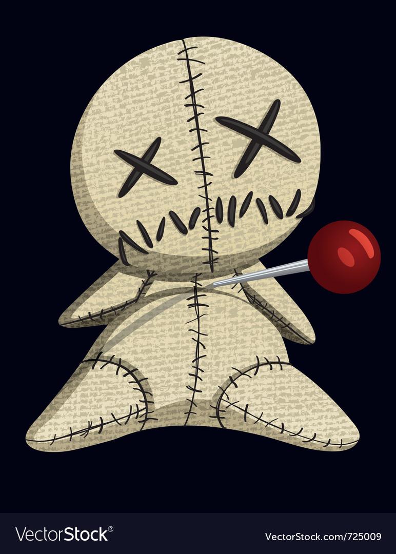 Voodoo doll vector image