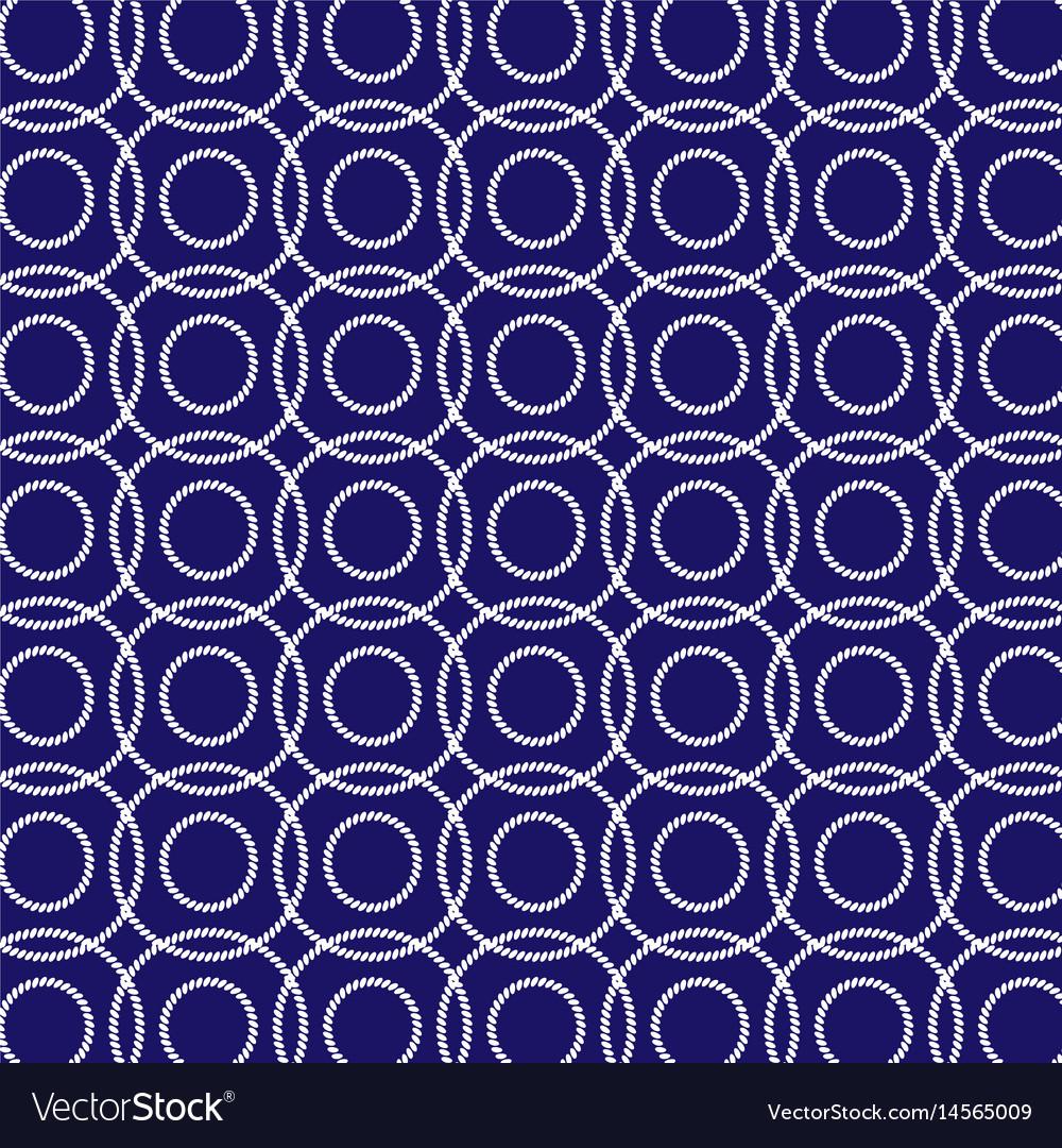Interlocking nautical ropes pattern vector image