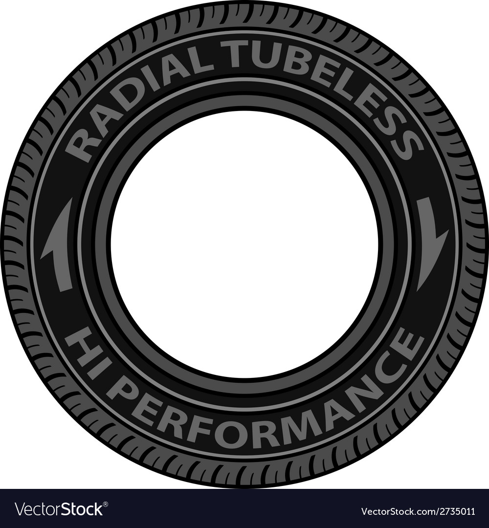 Radial Tubeless Tyre Royalty Free Vector Image