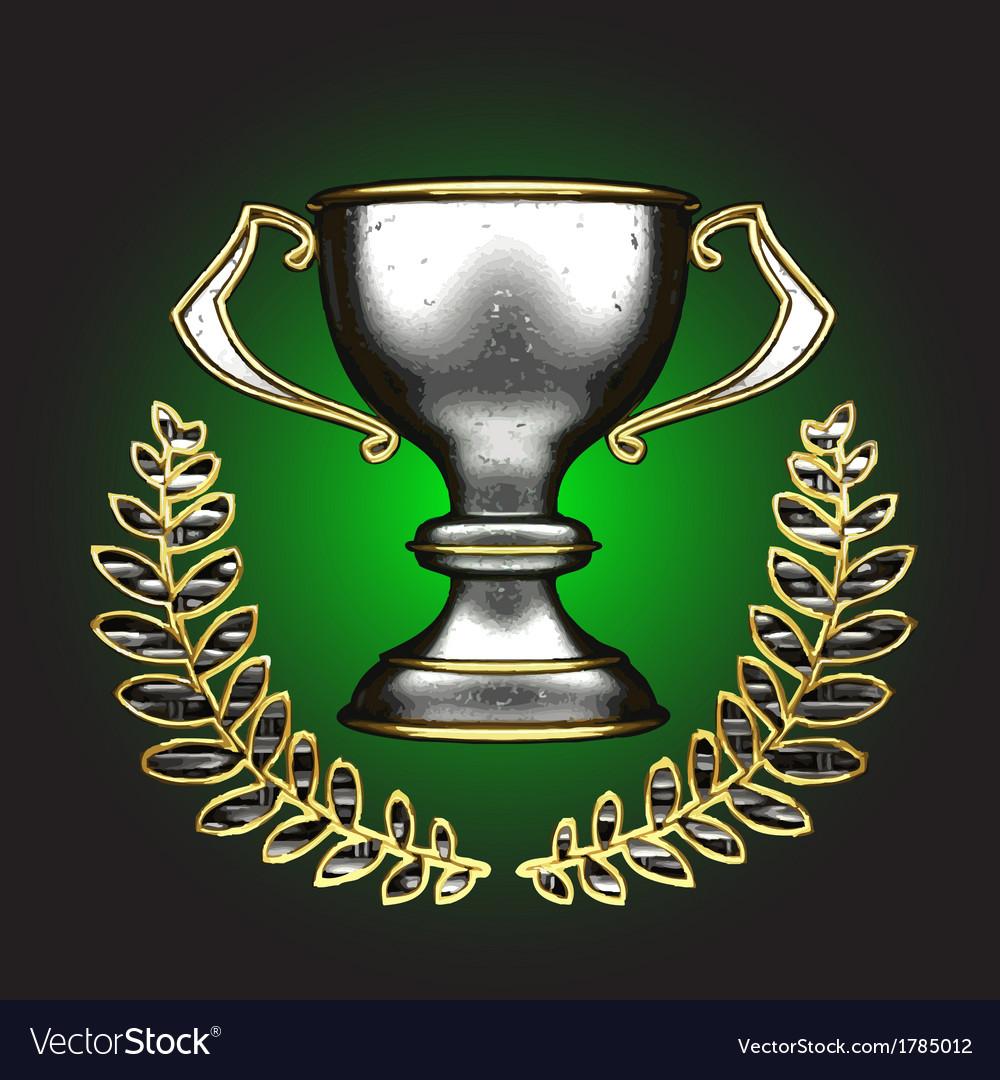 Silver award vector image