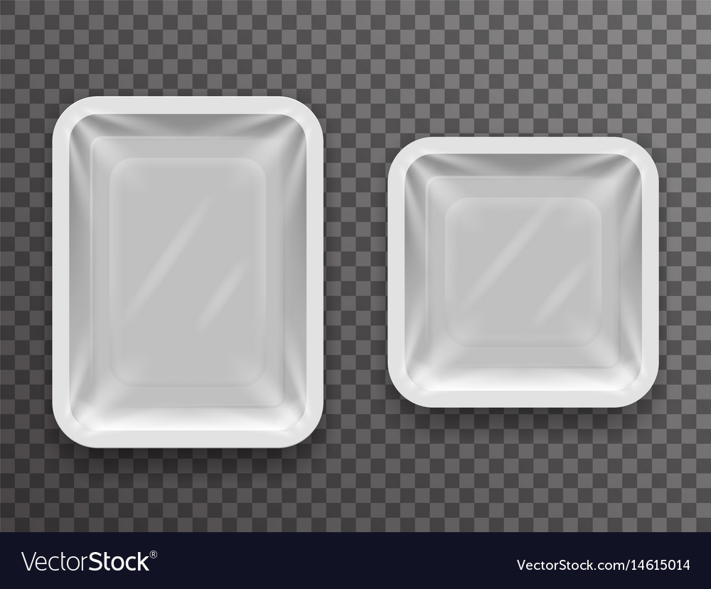 Disposable food pack isolated 3d realistic shop vector image