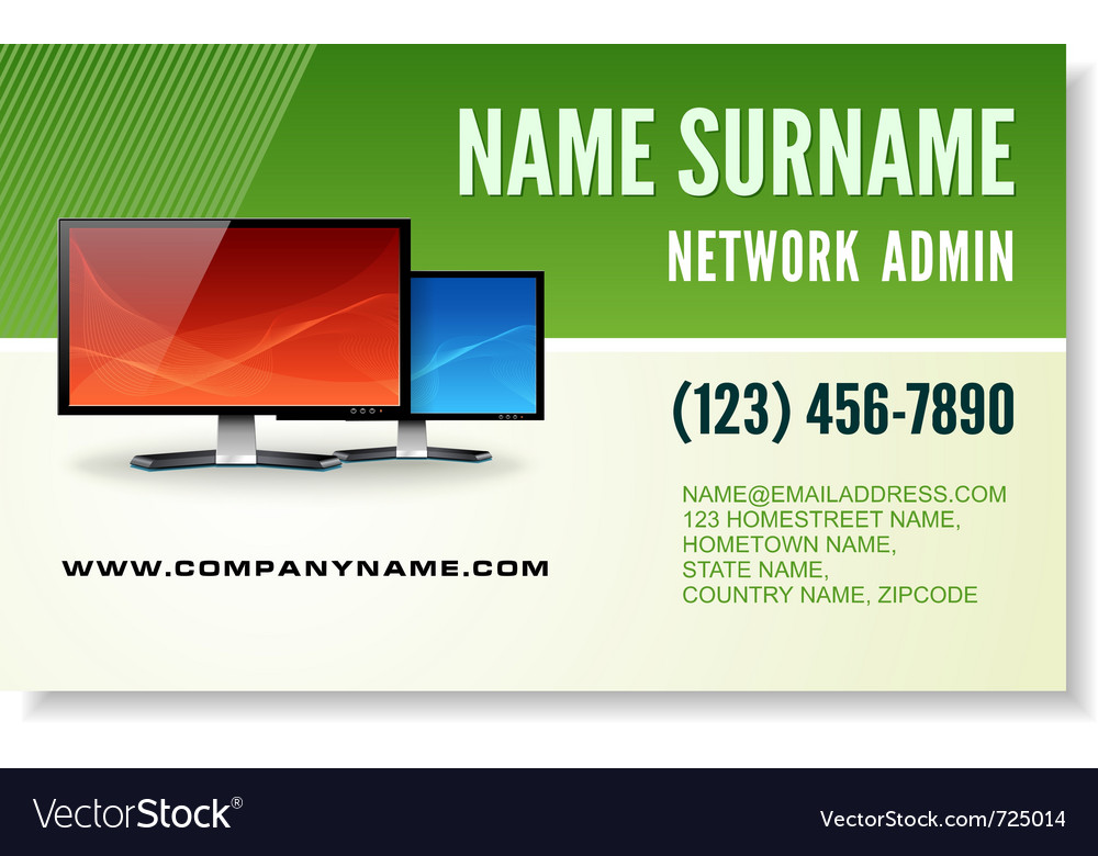 Information technology business card Royalty Free Vector